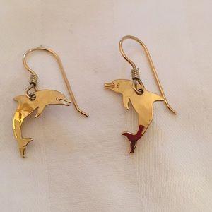 Wild Bryde Dolphin Wire Earrings